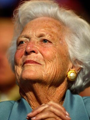 """FILE - APRIL 15, 2018: It was reported that former first lady Barbara Bush won't seek more medical treatment after hospitalizations, but will instead focus on """"comfort care,"""" according to family spokesman  April 18, 2018. ST. PAUL, MN - SEPTEMBER 02:   Former first lady Barbara Bush attends day two of the Republican National Convention (RNC) at the Xcel Energy Center on September 2, 2008 in St. Paul, Minnesota. The GOP will nominate U.S. Sen. John McCain (R-AZ) as the Republican choice for U.S. President on the last day of the convention.  (Photo by Scott Olson/Getty Images)"""