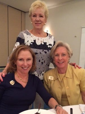 From left, front row: April Smith and Marge Dodge; back row, Karen Ackland.