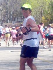 David Leon Moore will run in his 10th consecutive Boston Marathon on April 16.