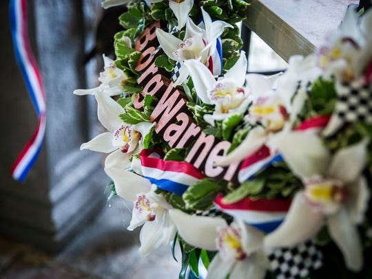 Julie Harman Vance builds the Indy 500 Wreath for the