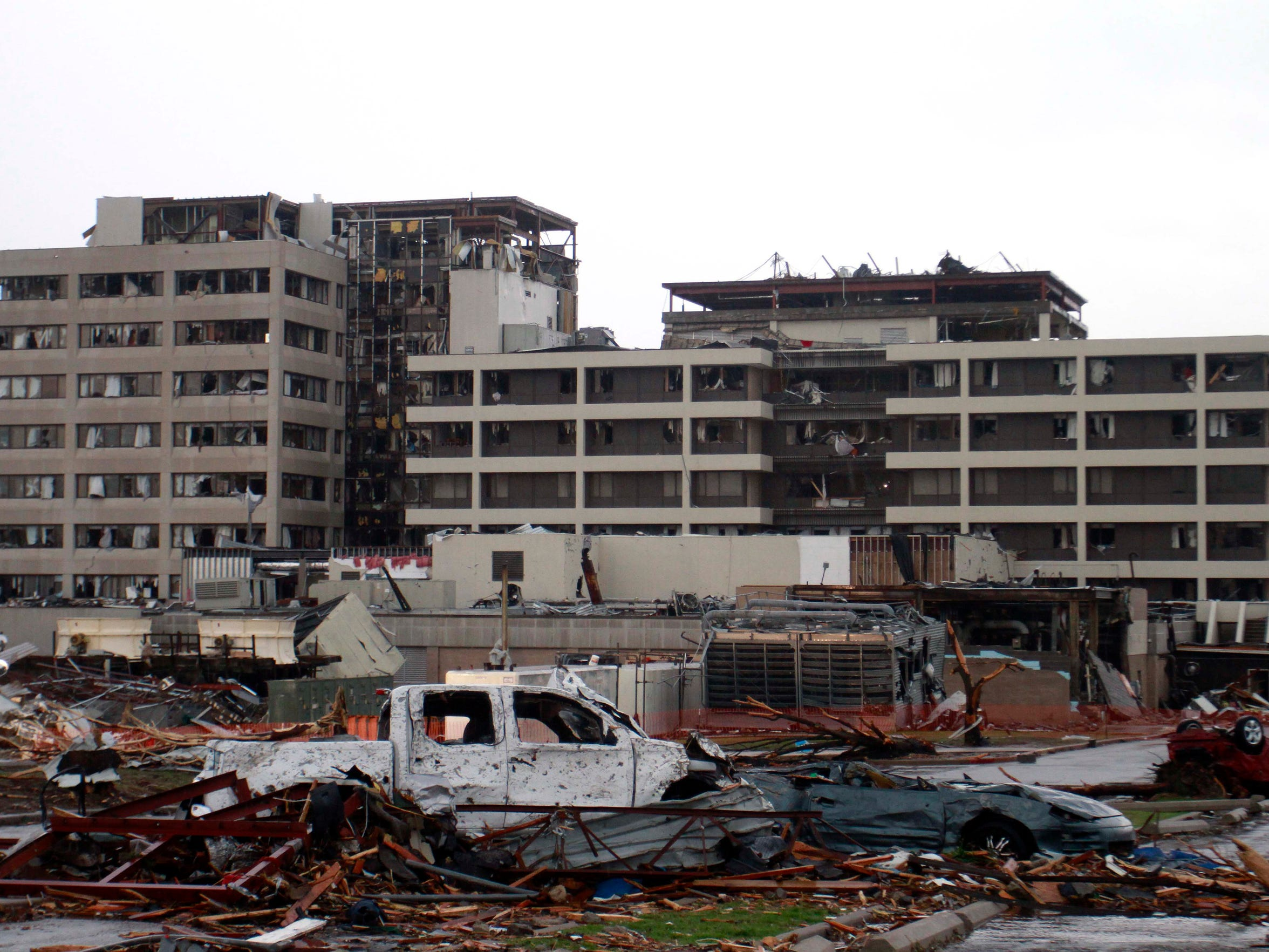 St. Johns Medical Center in Joplin was severely after a tornado ripped through Joplin, Mo causing widespread destruction and causalities. Nathan Papes/News-Leader