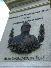 On the base of the Confederate Monument in the Springfield