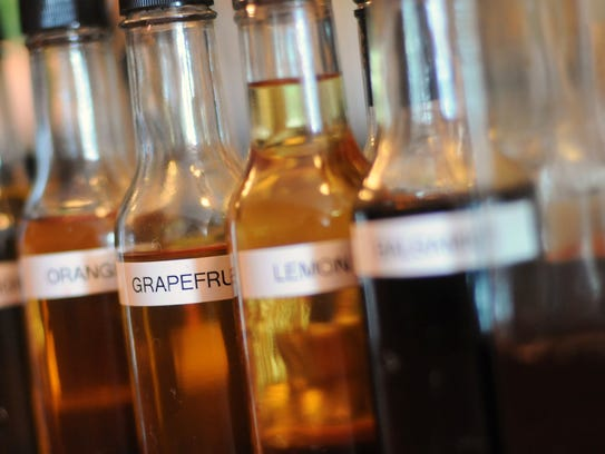 Bitters, some of which are housemade, are used in many