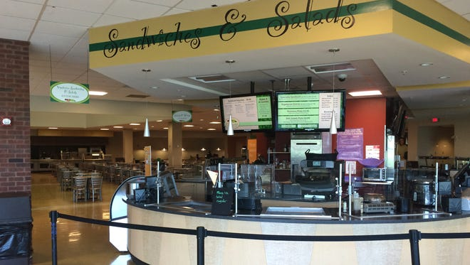 A plan to privatize all food services, including this food-court style area in the Student Center, will be presented to the Eastern Michigan University Board of Regents on June 21.