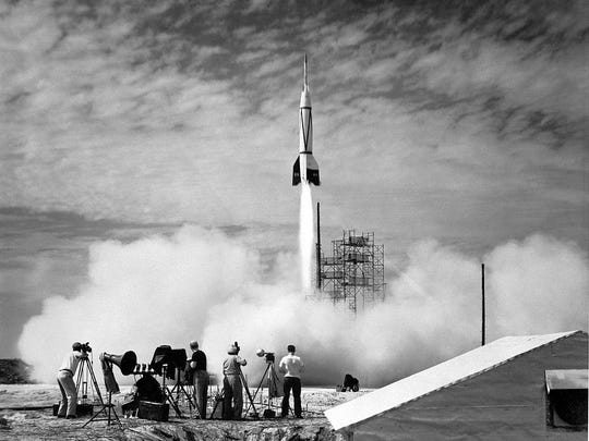 A new chapter in spaceflight began in July 1950 with the launch of the first rocket from Cape Canaveral: Bumper 8.