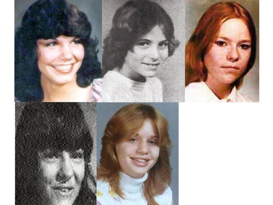 Missing women, clockwise from upper left, Kellie Brownlee,