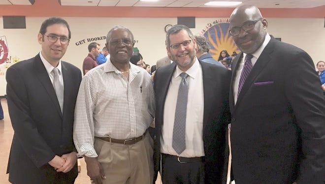 Lakewood Deputy Mayor Menashe Miller, Dr. Michael Rush, CHEMED CEO Dr. Dovid Friedman, Pastor Glen Wilson