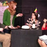 """""""Rabbit Hole"""" is now playing at Great Escape Stage Company in Marshall. It stars, from left, Caleb Knutson, Allyson Miko, Callie Bussell and Donna Daines."""