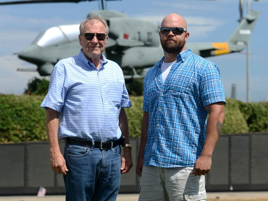 Phil Foster, left, and Elliott James served their country in different wars in different generations, Foster in Vietnam and James in Iraq. But both men are fighting the same battle with post-traumatic stress disorder.