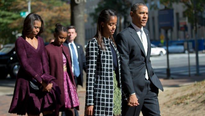 President Obama and family.