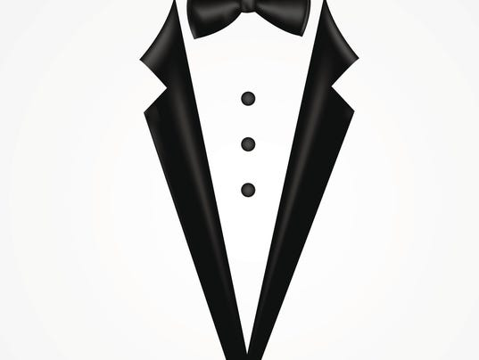 Tuxedo vector with bow