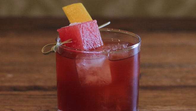 Crudo Negroni (aged in a barrel for four weeks and features muddled watermelon) from Crudo.