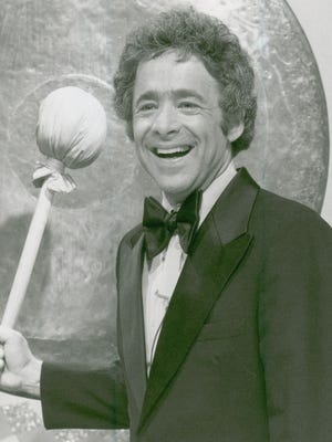 """Chuck Barris is seen in 1976 during his days as emcee of """"The Gong Show."""""""