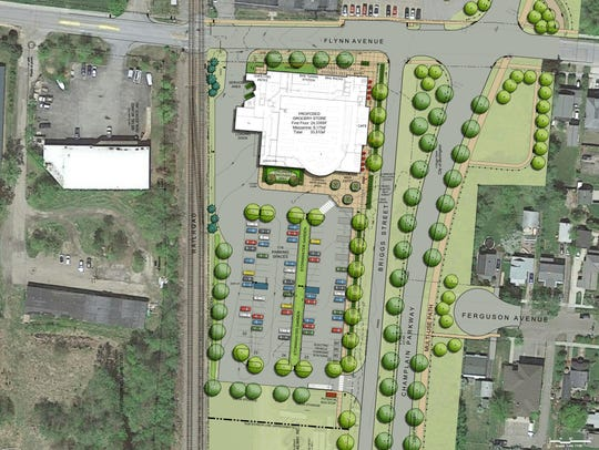 A plan for a new City Market store at Flynn Avenue