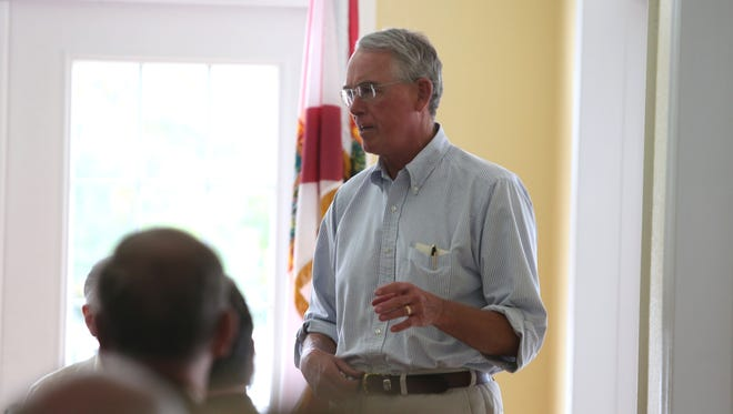 U.S. Rep. Francis Rooney addresses the Republican Club of Southwest Florida on Thursday.