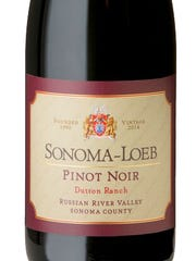 Sonoma-Loeb Dutton Ranch pinot noir offers flavors of black cherries and raspberries.