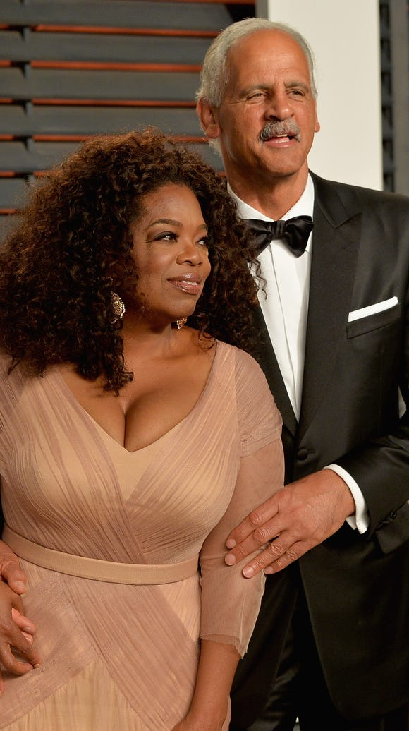 Oprah Winfrey and Stedman Graham, at the 2015 Vanity