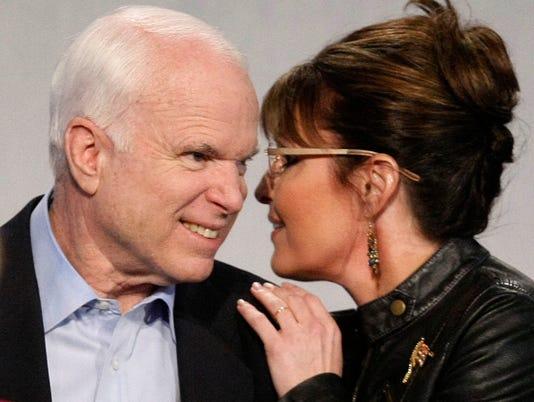 John McCain and Sarah Palin in Arizona
