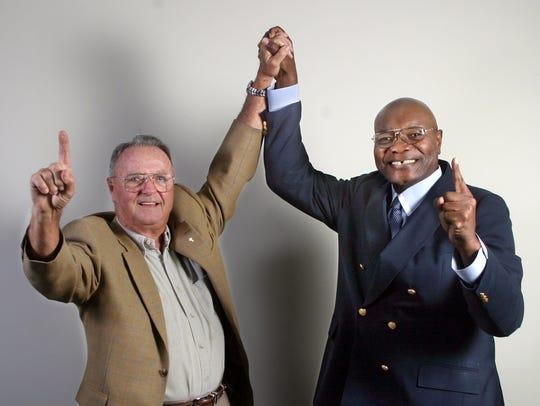 FSU head coach Bobby Bowden and FAMU head coach Billy
