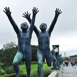 The popular 74-acre Vigeland Sculpture Park in Oslo is home to more than 200 sculptures by Norwegian Gustav Vigeland.