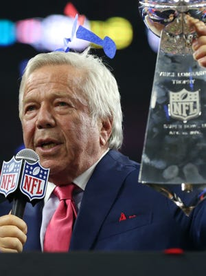 Patriots owner Robert Kraft had harsh words for fellow owners over the Deflategate sanctions.