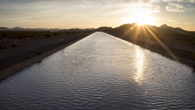 The Central Arizona Project (CAP) canal near the New RIver siphon in the West Valley.