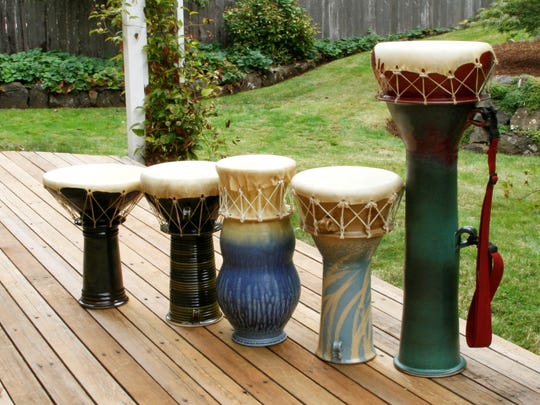 Ric Schlecter will perform using Lee Jacobson's ceramic drums at a reception from 7 to 9 p.m. Friday at Lunaria Gallery, 113 N. Water St., Silverton.