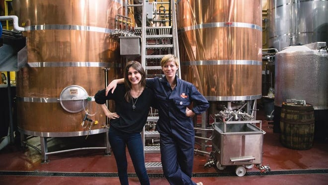 Madi Holtzman, left,  and Devin Hardy are co-leaders of Toast Ale USA.