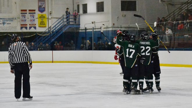 Brewster/Yorktown clinched at least a share of the League C title with a win over Greeley on Monday.