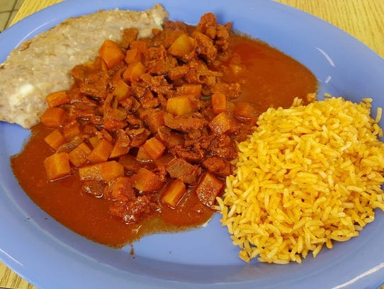 Chile Colorado con Carne ($7.50) at Good Luck Cafe.
