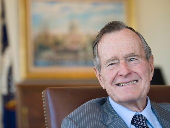 Former President George Herbert Walker Bush discusses