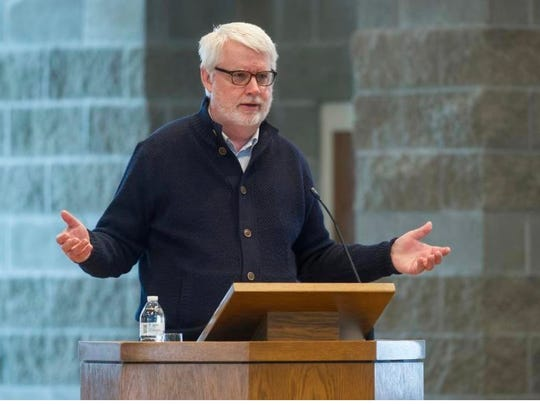 David Carlson, a professor of religious studies at Franklin College, also spoke at the event at Faith Presbyterian Church in Indianapolis.