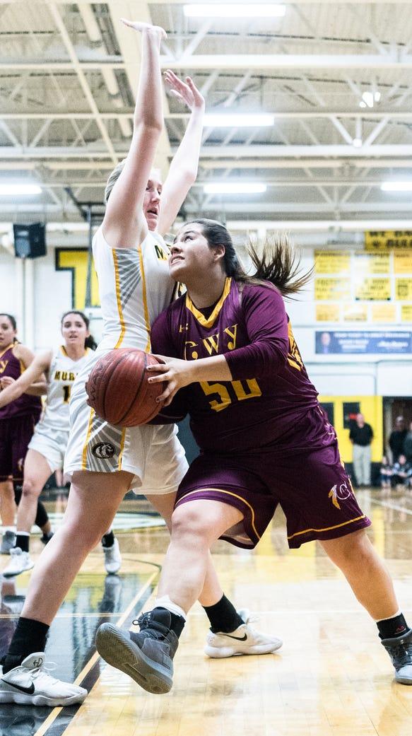 The Murphy high school girls basketball team hosted