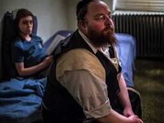 """Menashe Lustig and Ruben Niborski in the film """"Menashe."""""""