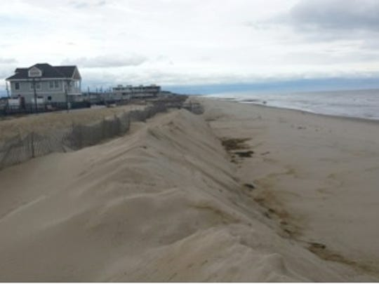 Authorities are working to reinforce dunes ahead of Hurricane Joaquin