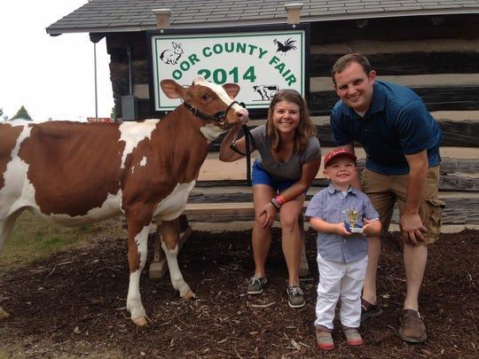 Moriah, Tony and Evan Brey at the 2014 Door County Fair.