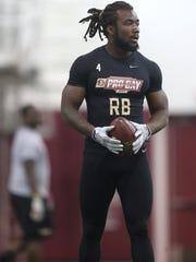 Former Florida State tailback Dalvin Cook looks to land as a potential first round pick in the upcoming NFL Draft.