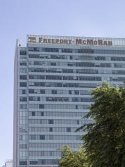 The downtown headquarters of Phoenix-based Freeport-McMoRan.