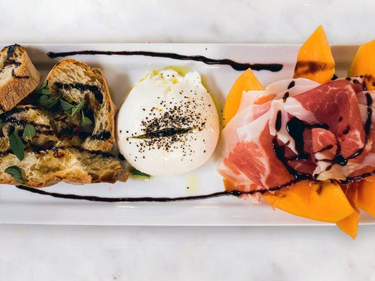 Burrata with melon and prosciutto is one of the best sellers at MidiCi The Neapolitan Pizza Co., a chain coming this year to Coconut Point in Estero.