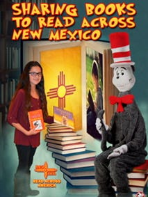 NEA-Las Cruces' 2018 Read Across America poster features campaign chairperson Sofi Carreon, a student at Vista Middle School.