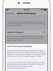iPhone 6 settings, battery life.