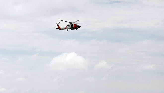 Coast Guard helicopter rescued an individual near Newport