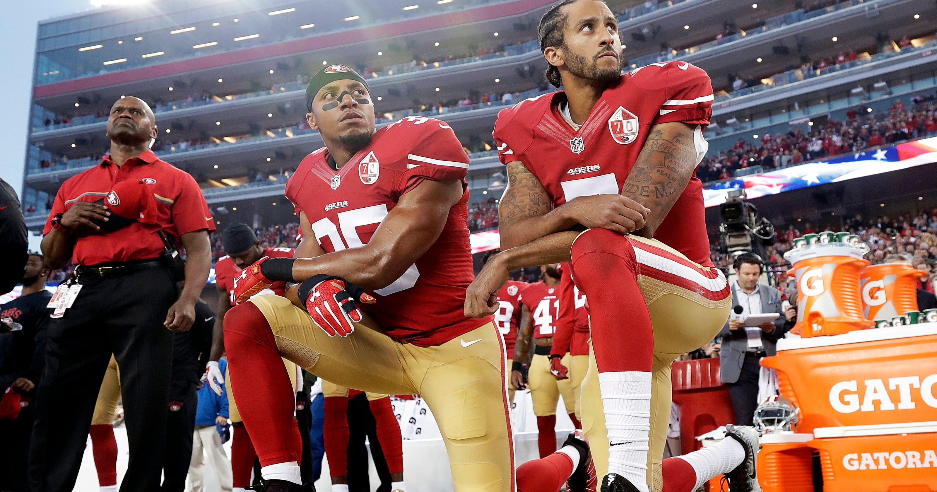 35ed444ec4340 Veterans differ in views of kneeling during national anthem