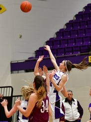Belle Fourche's Shayla Howell goes up for a shot against