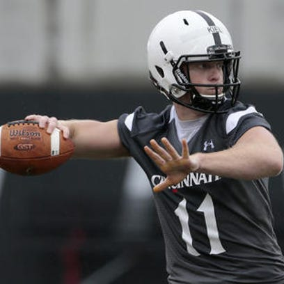 Gunner Kiel does not have the luxury of having Munchie Legaux behind him this year. 'He can't have a bad game,' UC coach Tommy Tuberville says.