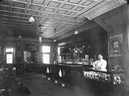 When this picture was taken in 1908, Charles Weinert operated a tavern at 828 North Eighth Street serving Pabst bock beer, cigars and spent time waiting for customers, numerous spittoons at the ready.  Toward the end of his run, he operated a soft drink parlor during Prohibition. Currently, the building is home to the Weill Center business office.