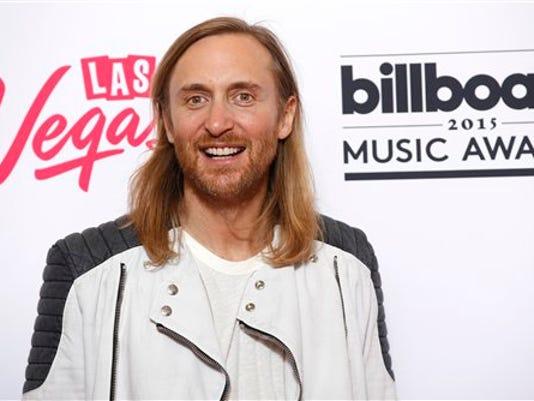 David Guetta posa para un retrato en la sala de prensa de los Premios Billboard en el MGM Grand Garden Arena el domingo 17 de mayo de 2015 en Las Vegas. (Foto Eric Jamison/Invision/AP)
