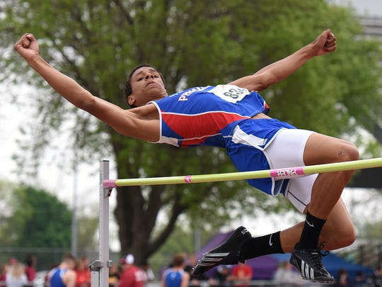 Parker's Zack Anderson take part in the high jump at