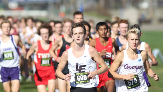 Lakota East's Dustin Horter won the boys' Div. I race with a time of 15:02.8, Saturday, Nov. 5, 2016, at the state meet in Hebron, Ohio.