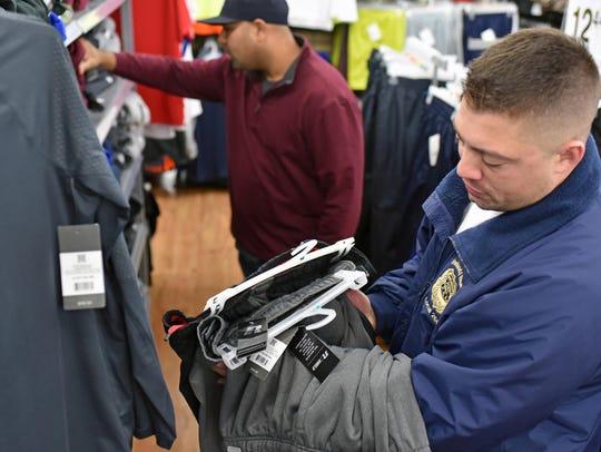 Vineland PBA officers Nelson Gonzalez (left) and Brad